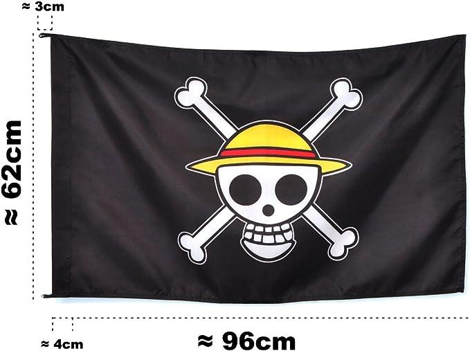 CoolChange One Piece Jolly Roggers Strohhut Flagge