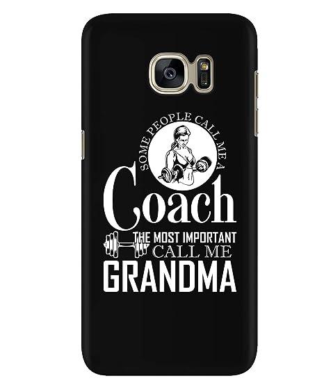 sale retailer 7f19e 51772 Amazon.com: Design for Samsung Galaxy S7 Case, Call Me A Coach ...