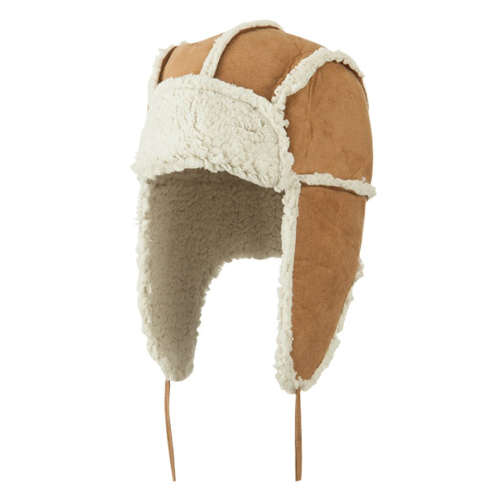 Women's Faux Shearling Trooper Hat - Natural OSFM by Jeanne Simmons