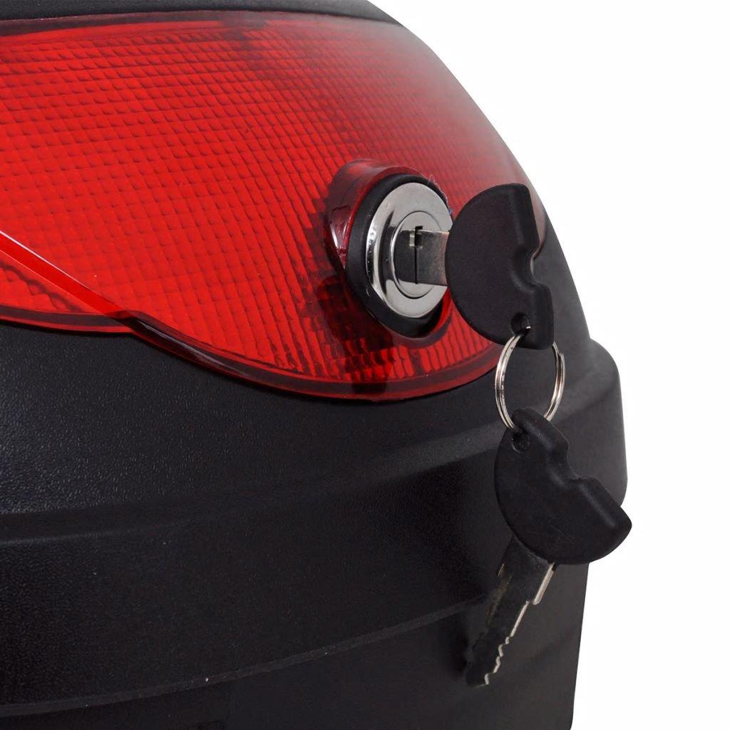 Nishore Maleta para Motos con Capacidad para un Casco 36 L Color de Negro Material de Polipropileno Carga M/áx 3 kg No Incluye Casco