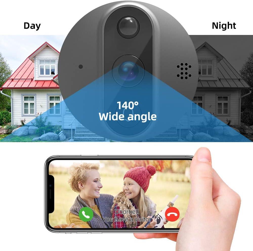 JeaTone Digital T/ürspion intelligente elektronische Katzenaugen Viewer T/ürklingel mit 100 /° Weitwinkel Outdoor-Kamera und 4,3 Zoll Nachtsicht Monitor Bewegungserkennung f/ür Sicherheit zu Hause