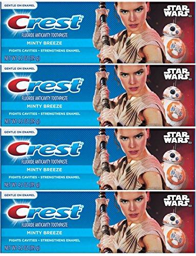 Crest Pro Health Junior Star Wars Children's Fluoride Anticavity Toothpaste Minty Breeze 4.2 oz,119 gr (Pack of 4)