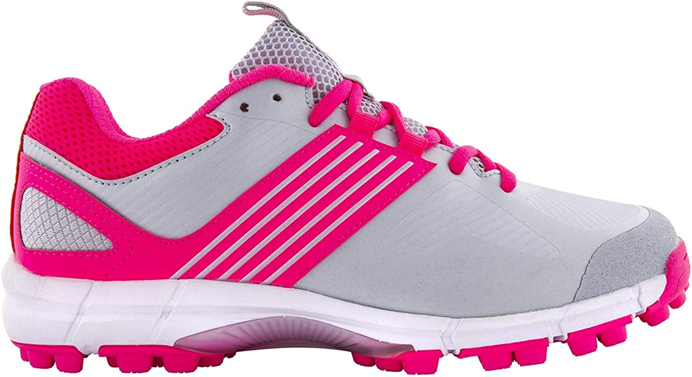Silver//Pink New for 2019 Grays Flash II Mini Hockey Shoes