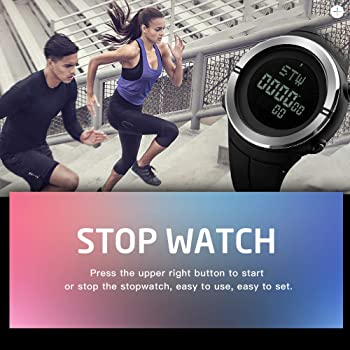 Reloj Digital Bozlun para Hombres con cronómetro y Contador de Pasos, Resistente al Agua, Reloj de Pulsera Militar y Deportivo con Pantalla LED