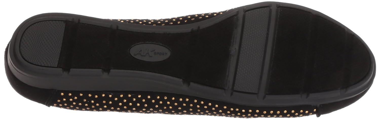 Anne Klein Women's Alessandra Studded Ballet Flat B079DHLCDX 7.5 W US|Black/Multi Fabric