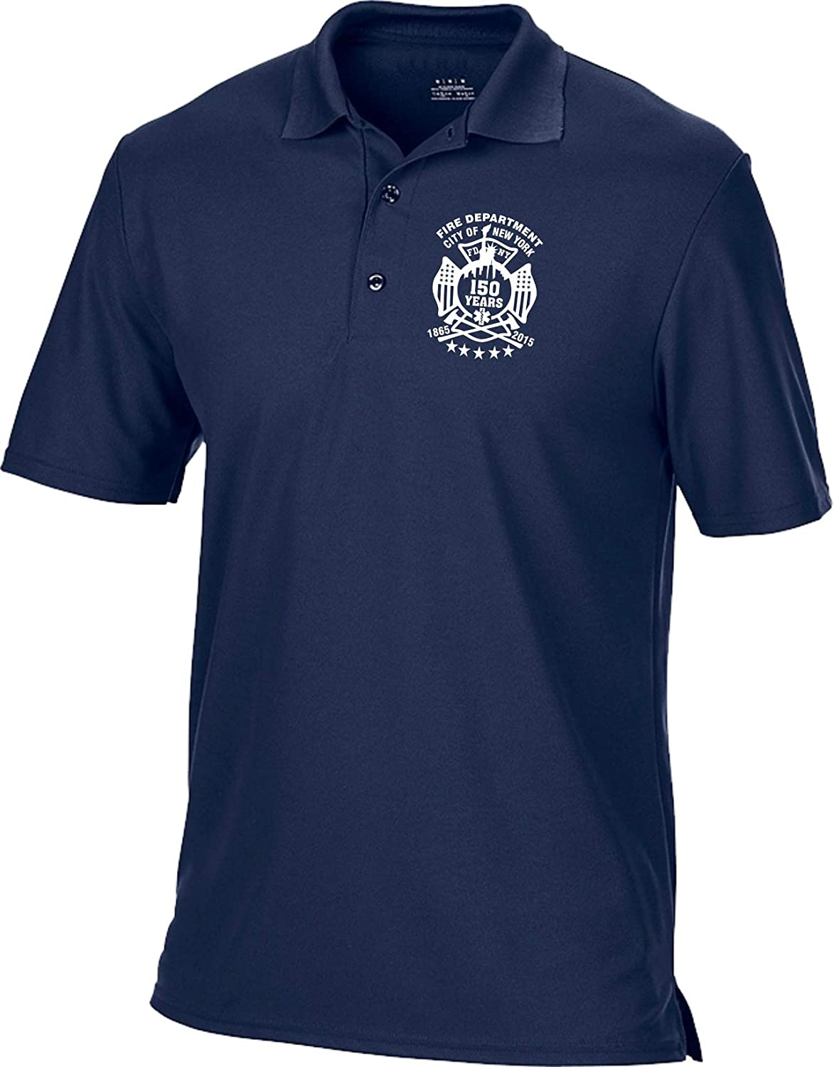feuer1 Funktions-Poloshirt Navy FDNY 150 Years 1865-2015
