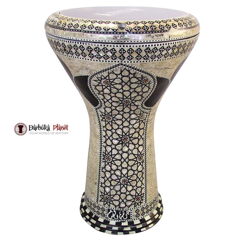 Gawharet El Fan 17'' Mother of Pearl Darbuka''Sigma'' Darbuka Drum Percussion