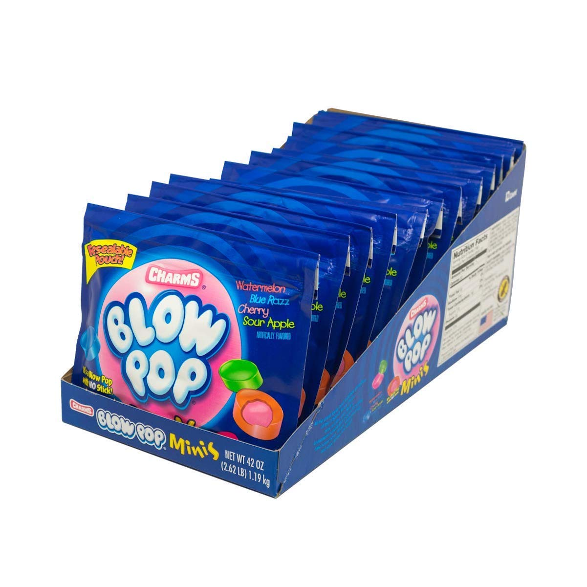 Charms Blow Pops Minis, 3.5 Oz. Bags, 12-Count by Tootsie Roll