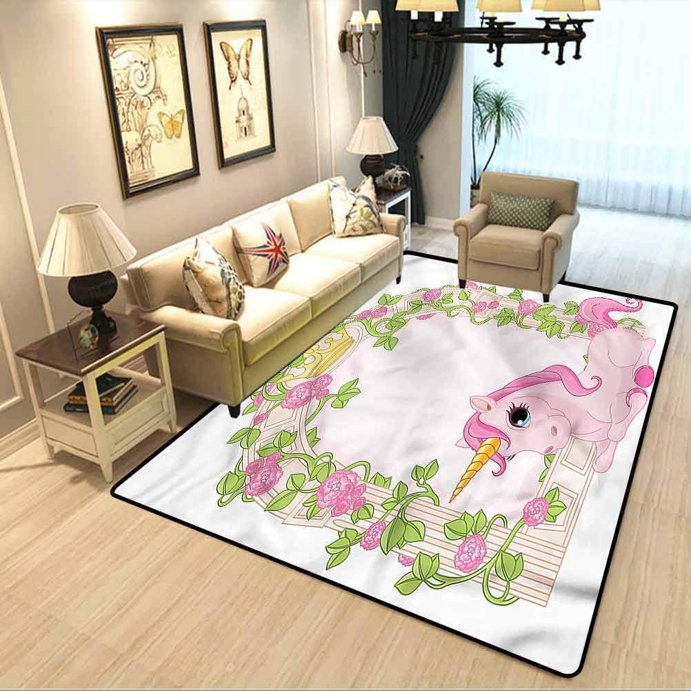 Amazon Com Teen Girls Stylish Decorative Carpet Romantic Floral Arch Cute Soft Children S Bedroom Rug W6 5 X L9 8 Feet Kitchen Dining