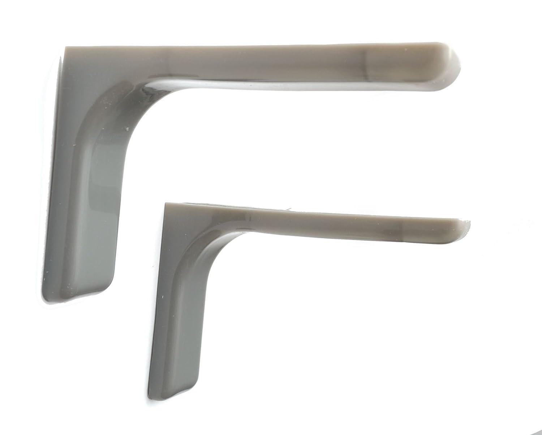 1 par Estante apoyo Soportes 180mm gris