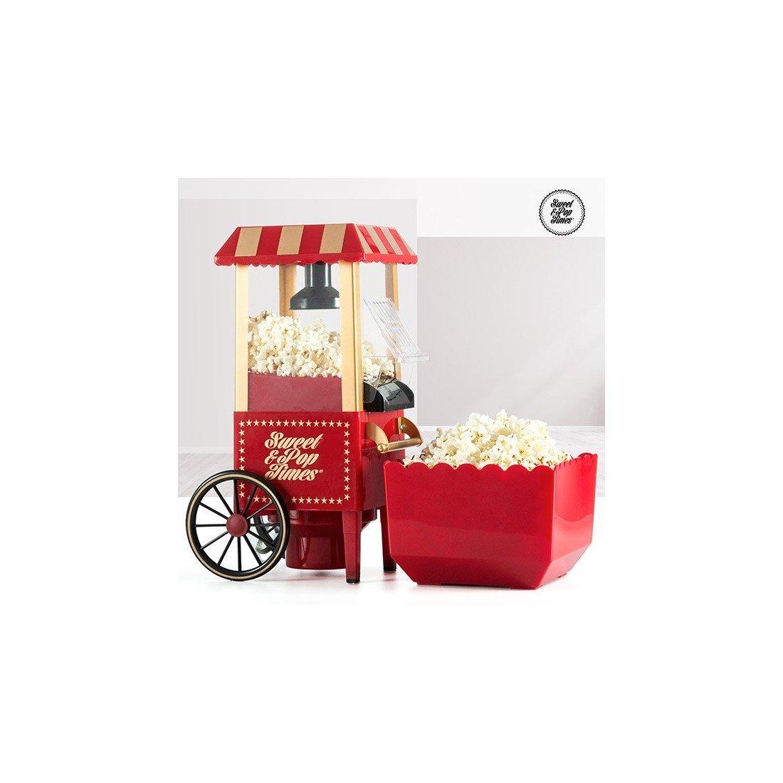 Appetitissime Sweet & Pop B1565166 - Macchina Popcorn, Carretto Vintage, 1200 W, colore rosso [Classe di efficienza energetica A] IGS