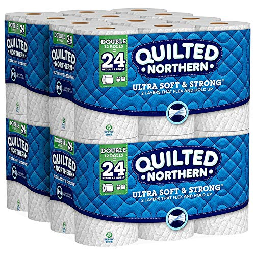 Quilted Northern Ultra Soft & Strong Toilet Paper, 48 Double Rolls, 48 = 96 Regular Rolls, 4 Pack of 12 Rolls (4 Pack(48 Double Rolls)) ()