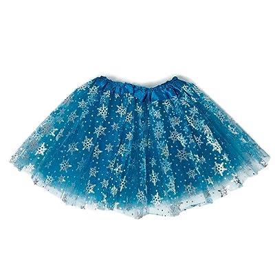 Rush Dance Ballerina Girls Dress-Up Princess Fairy Costume Recital Tutu (Kids 3-8 Years, Snowflake (Elsa)): Clothing