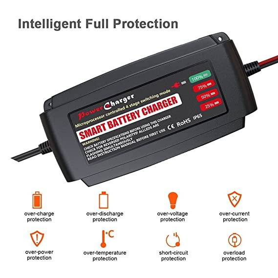 Amazon Com Tpe 12v 5a Smart Battery Charger For Agm Gel Sealed Lead