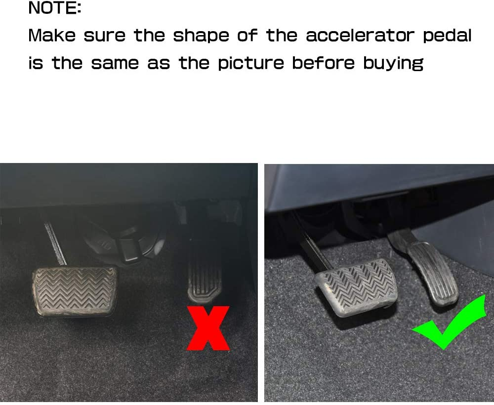 RED BOYUER 2PCS Anti-Slip No Drilling Aluminum Brake and Gas Accelerator Pedal Covers Foot Pedal Pads Kit For Toyota Corolla 2019 2020