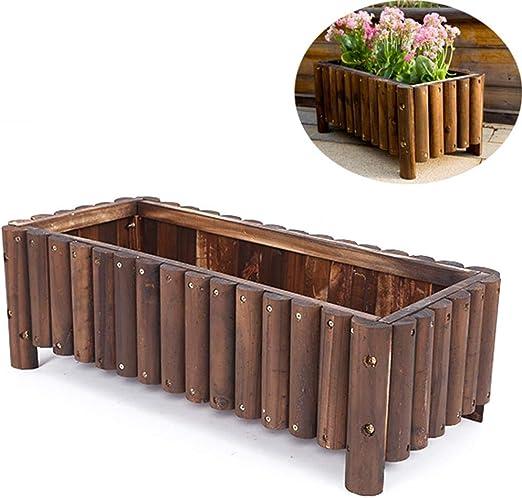 Caja de Flores de Madera, Caja de macetas de Madera, Centro de ...