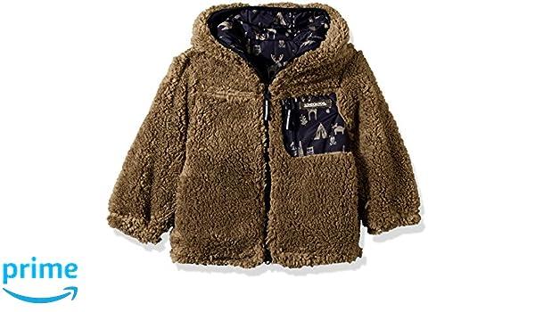 Navy Animals Green 7 London Fog Boys Little Reversible Fleece to Poly Jacket