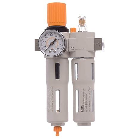 Mejor unidad de mantenimiento de aire comprimido 1/4 reductor de presión Lubricador para compresor
