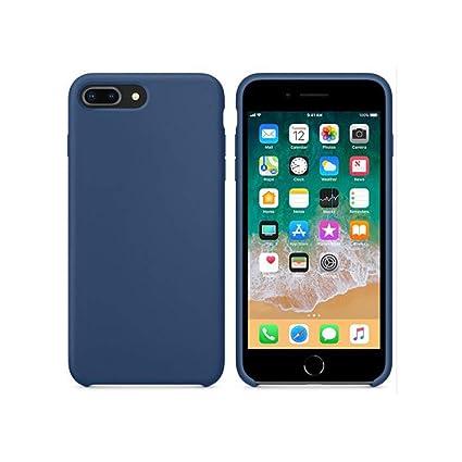 Amazon.com: Funda de silicona líquida para iPhone 7 8 6s ...