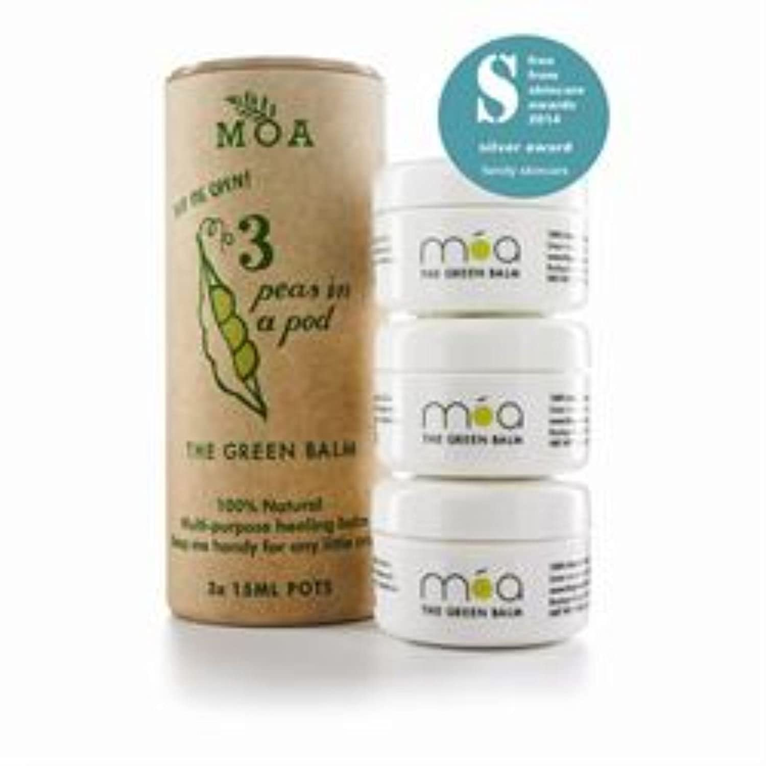 MOA Green Balm Peas in a Pod - The Green Balm 3 Pack (order 6 for trade outer)