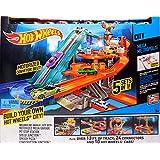 Hot Wheels City Mega Metropolis Motorized Race Track 10 Cars 5 Hot Wheels City Sets