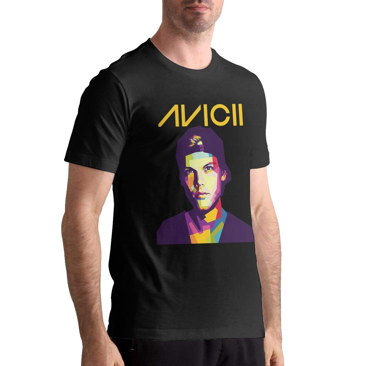 Denise K Steinbach Avicii T Shirt Mens Cotton Fashion Sports Casual Round Neck Short Sleeve Tees