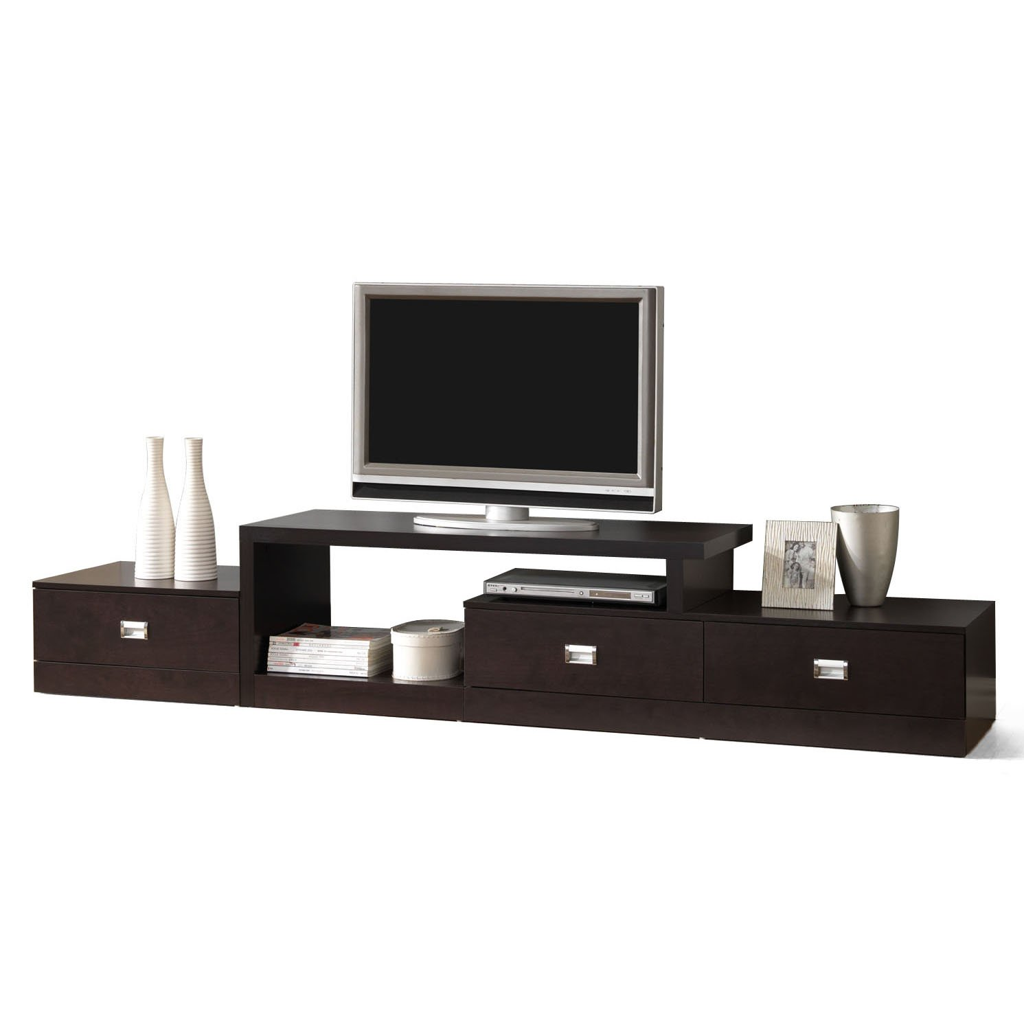 modern tv stand. amazon.com: baxton studio marconi brown asymmetrical modern tv stand: kitchen \u0026 dining tv stand