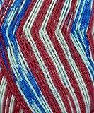 Fortissima Color Sock Yarn - #1776 American Flag Fairisle