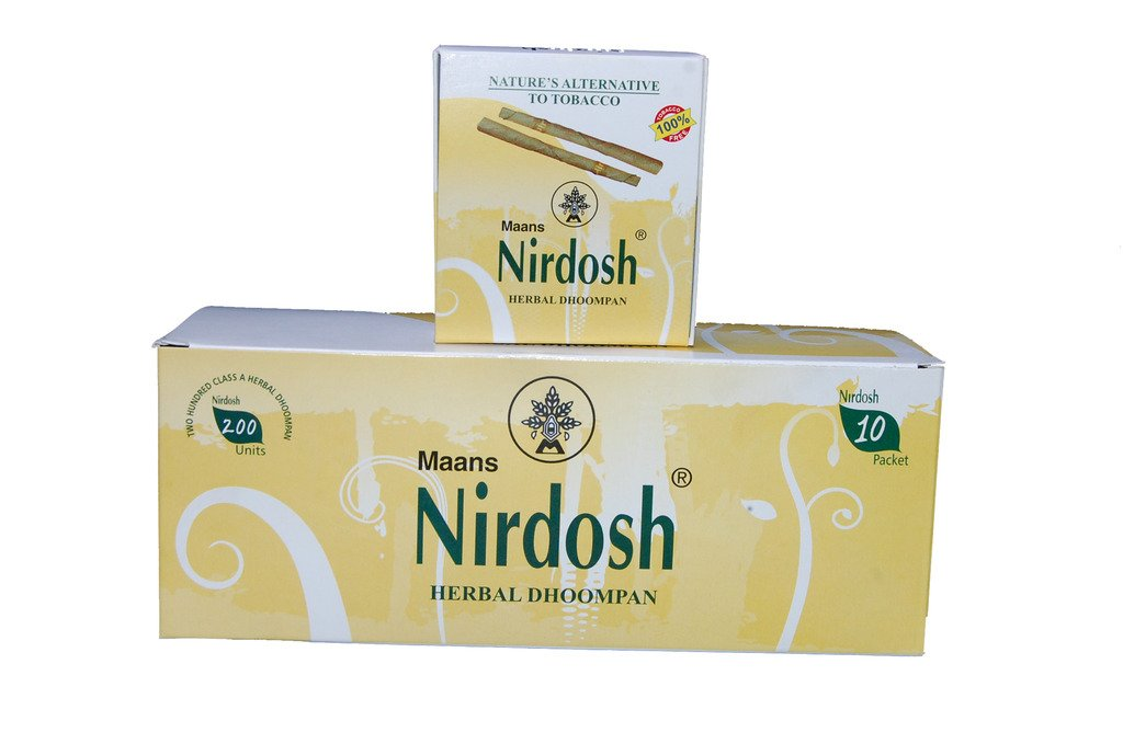 NIRDOSH Herbal No Nicotine & Tobacco Cigarettes[Without Filter] - 20 Packs(20 Cigarettes Per Pack)