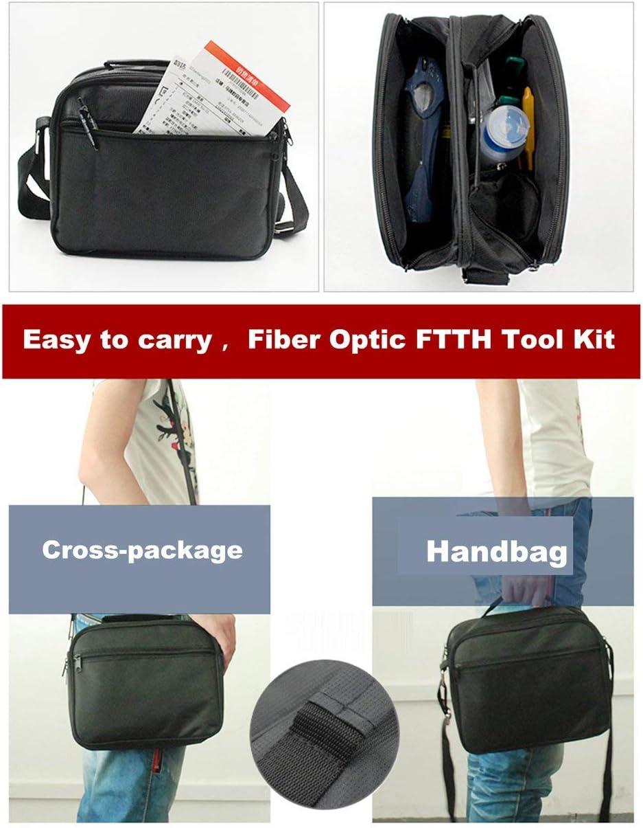Naranja Kit de herramientas FTTH de fibra /óptica con alicates pelacables de fibra cortada Alicates Miller Medidor de potencia /óptica con luz roja de 5 km