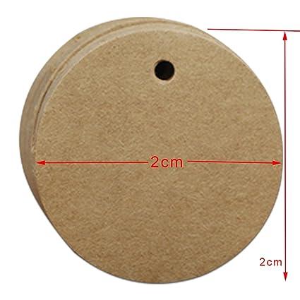 Couleur Marron Rond Vierge Papier Kraft étiquettes Prix