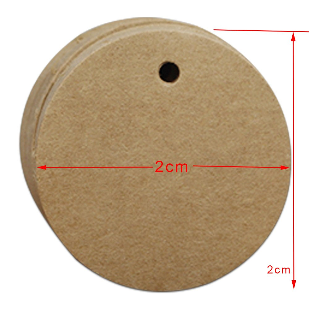 0.8 inch Round Blank Colorful Kraft Paper Christmas Gift Tags Craft Paper Wedding Favor Party Display Hang Tags Clothes Price Shipping DIY Projects Packing Labels with Hang Hole (20000 pieces, Brown)