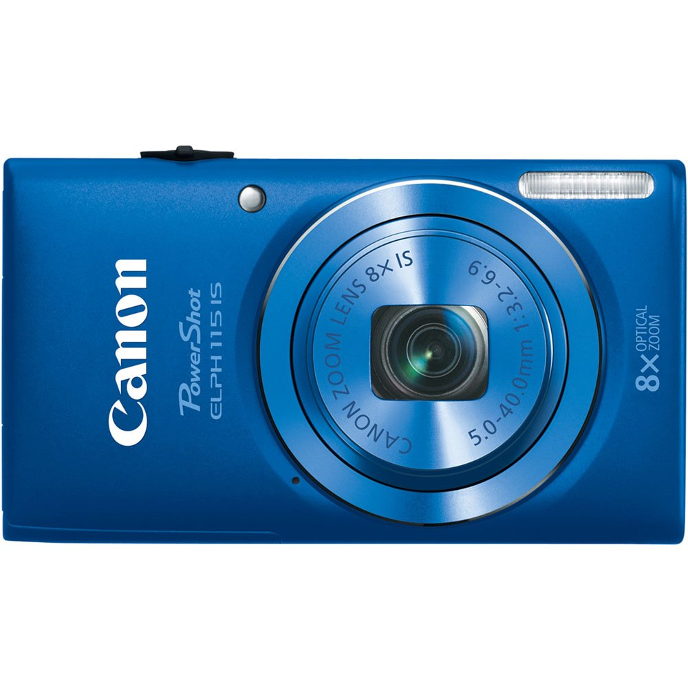 Amazon.com : Canon PowerShot ELPH 115 16MP Digital Camera (Blue) (OLD  MODEL) : Point And Shoot Digital Cameras : Camera & Photo