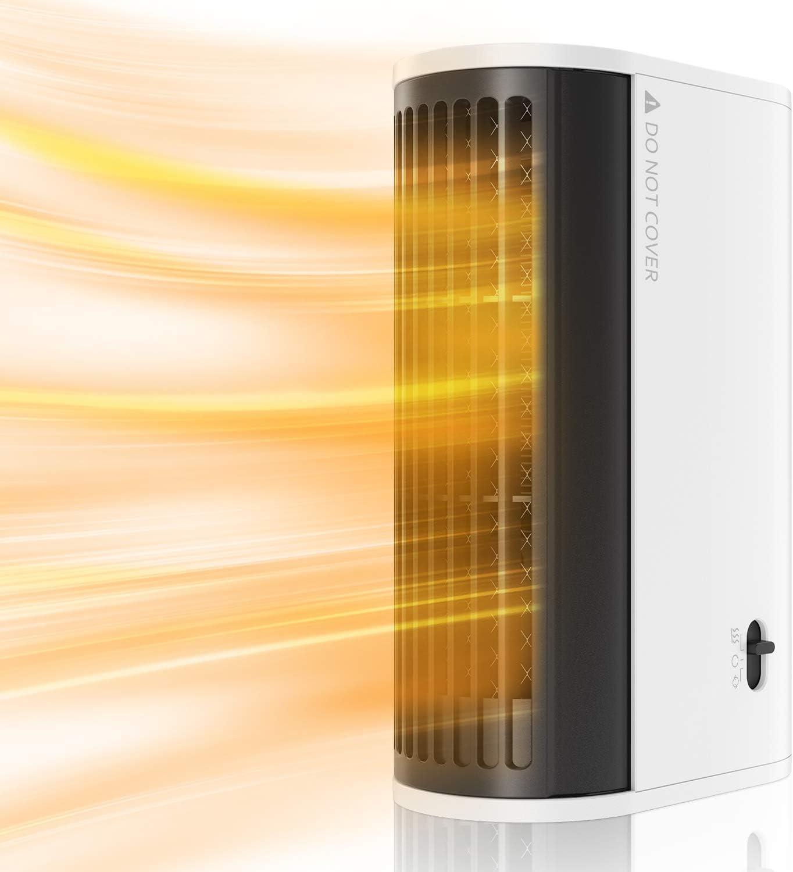 Mini Calentador de Aire Caliente, Calefactor Portátil Eléctrico Bajo Consumo con Protección contra Sobrecalentamiento, Ideal para Hogar, Oficina
