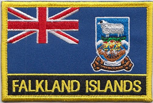 Falkland Islands Country Flag Embroidered Blazer Badge ()