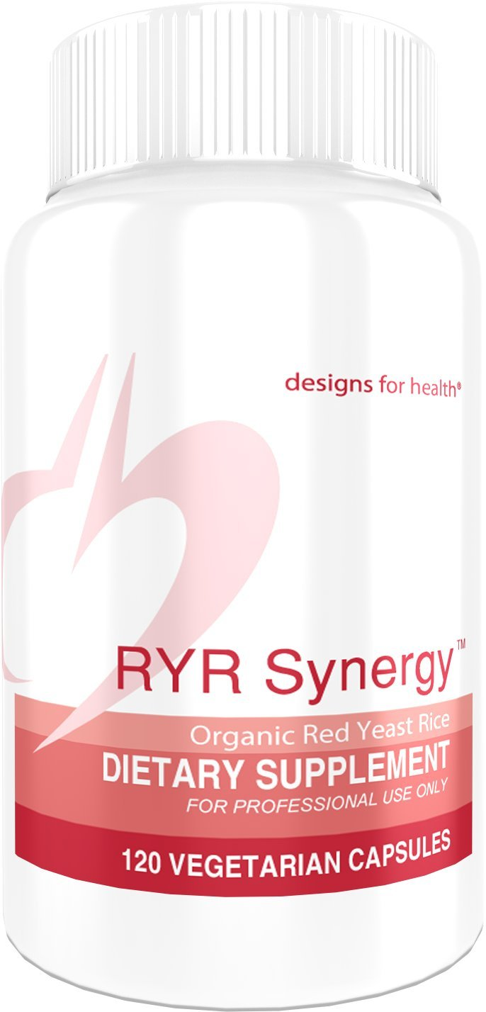 Designs for Health Organic Red Yeast Rice CoQ10 Capsules – RYR Synergy 1200mg Organic RYR 40mg CoQ10 120 Capsules