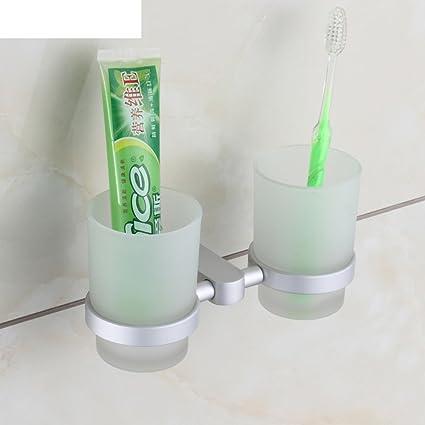 Espacio cepillo de dientes titular de aluminio/Cepillo de dientes portavasos/traje de soporte