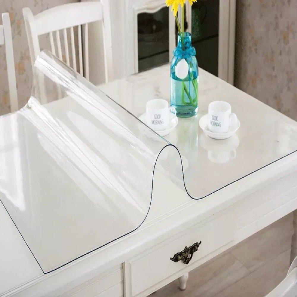 S.N.A.テーブルカバー 防水 PVC製 テーブルデスク用 プロテクター テーブルパッド 複数のサイズ展開 23.6 x 48 Inches (60 x 122cm) B074G2F57G 23.6 x 48 Inches (60 x 122cm)|1 Mm Clear 1 Mm Clear 23.6 x 48 Inches (60 x 122cm)