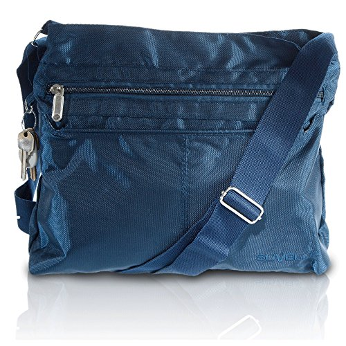 Crossbody Bag Suvelle Multi Handbag Travel Classic Pocket Lightweight Shoulder Navy Everyday 1905 xqHw7pIRH