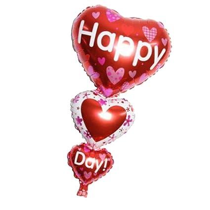 Homyl Globo de Aluminio Triple Letras HAPPY DAY de Color Rojo Día de ...