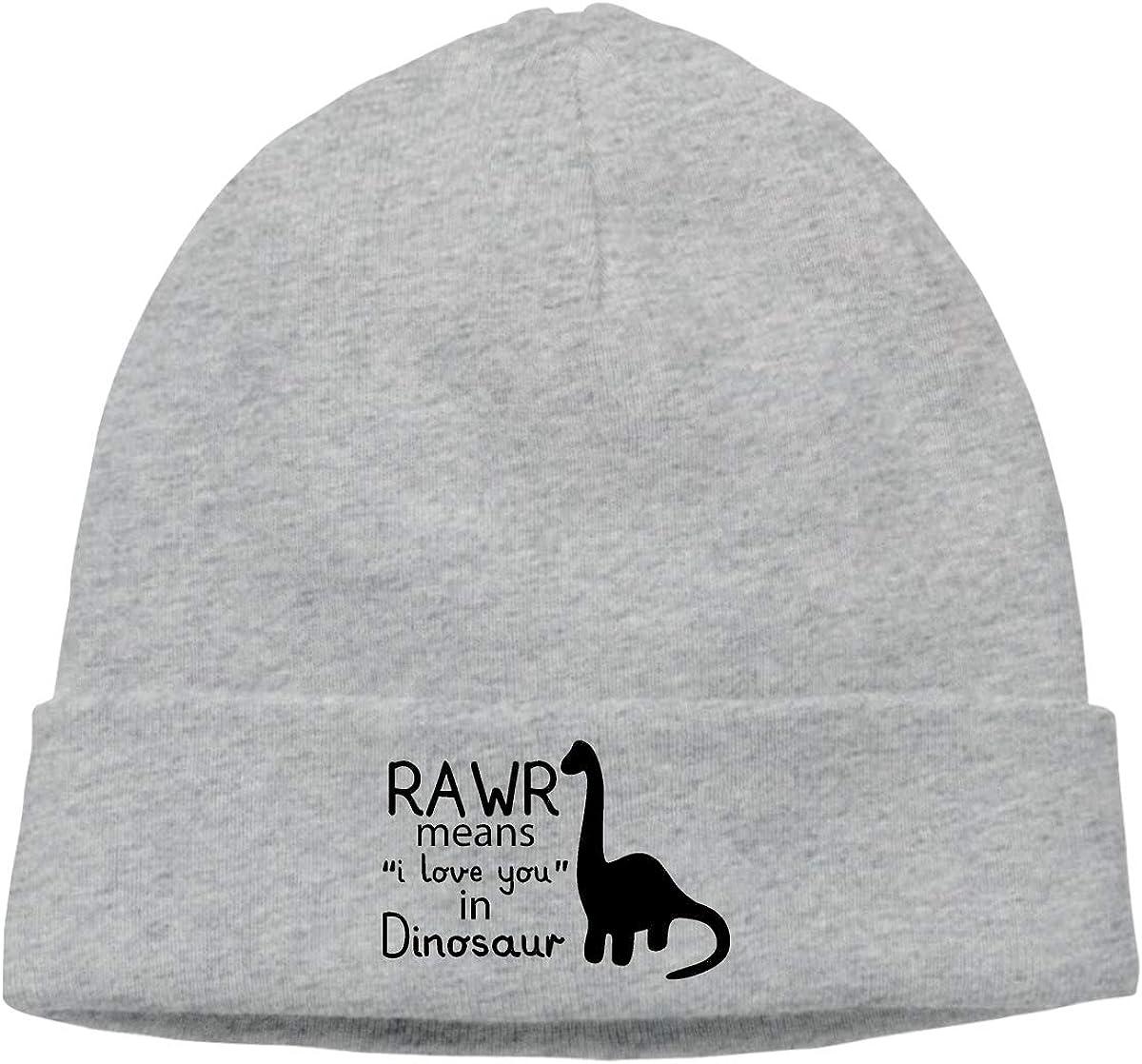 Rawr Means I Love You in Dinosaur Beanie Hats Cap Men /& Women Oversized Baggy Skull Cap Slouchy Beanie Hat