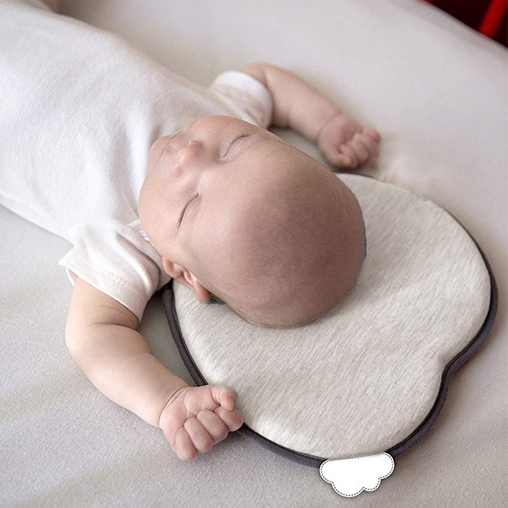 Bedding Soft Baby Newborn Flat Head Pillow Memory Foam Cushion Sleeping Support OL7