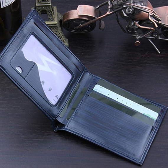 BaZhaHei-Cartera Carteras Hombre Bifold Business Leather Wallet ID Titular de la Tarjeta de crédito Bolsillos Monedero Cartera para Hombre Billetera de ...