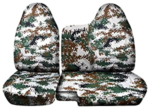 2004 2012 chevy colorado gmc canyon camo truck seat covers front 60 40 split bench. Black Bedroom Furniture Sets. Home Design Ideas