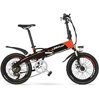 """LANKELEISI G660 Batería Oculta de Alta Potencia 500W 48V10Ah 20"""" Bicicleta de montaña eléctrica Plegable, Marco de aleación de Aluminio, Horquilla de suspensión"""