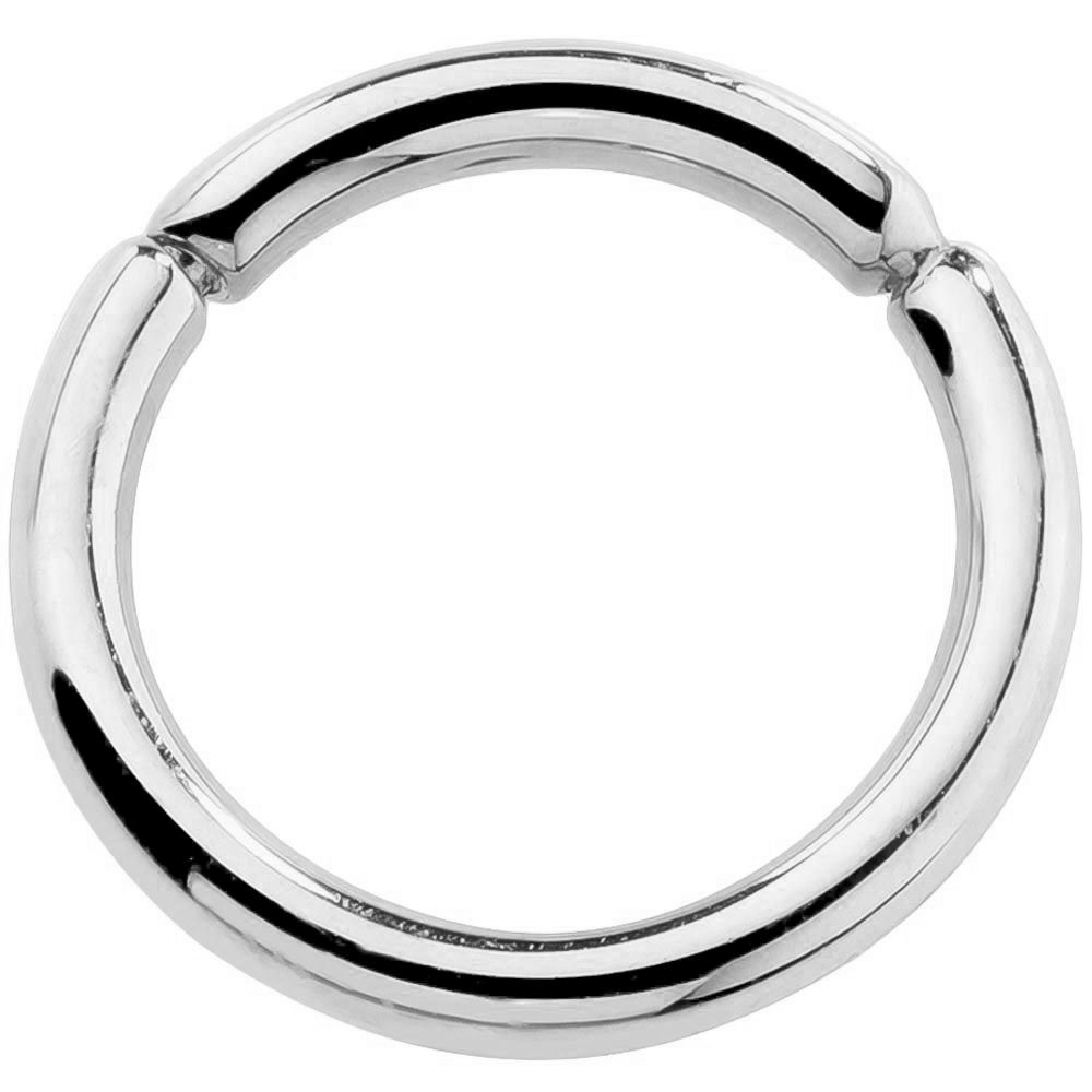 14G 1/2'' Solid 14K White Gold Segment Belly Nipple Septum Eyebrow Lip Ring