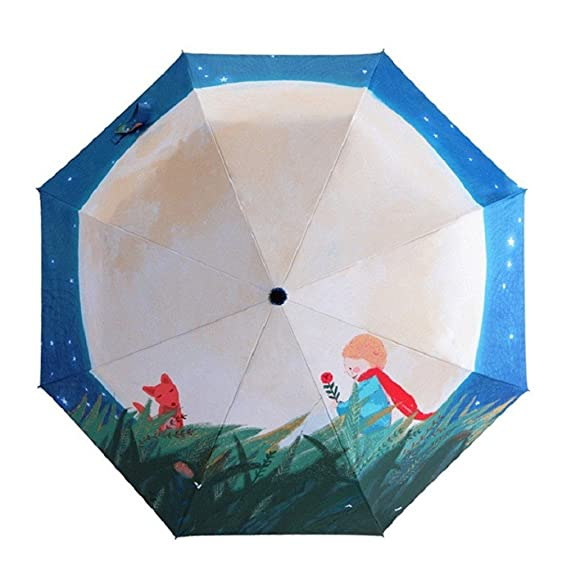 Katoot@ Novelty Gifts Oil Painting Umbrella Three Fold paraguas Women Parasol Anti-uv Waterproof