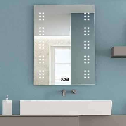 Amazon Com Tangkula Bathroom Illuminated Mirror Led Light Sensor