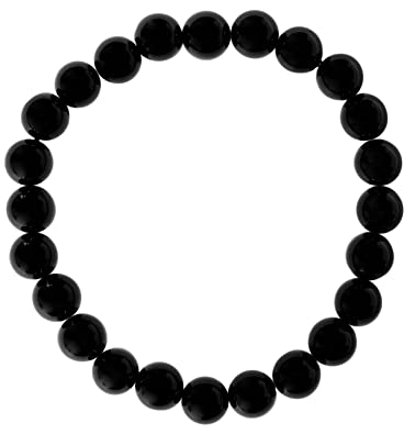 Armbänder Uhren & Schmuck Kompetent Schwarzer Turmalin Malachit Armband 8mm Kristall Edelstein Perlen Dehnbar