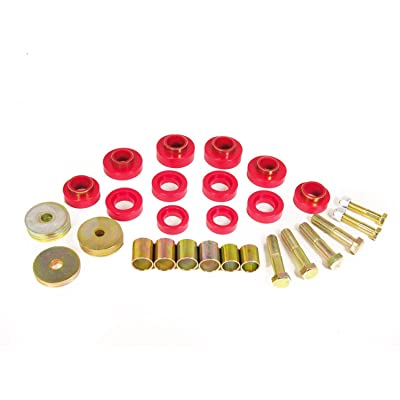 Prothane 7-139 Red Body Mount Kit with Hardware: Automotive